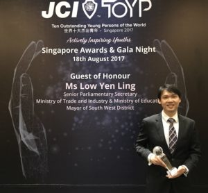 Benjamin Tee JCI Top Young Outstanding Persons of the Year 2017 Singapore Award